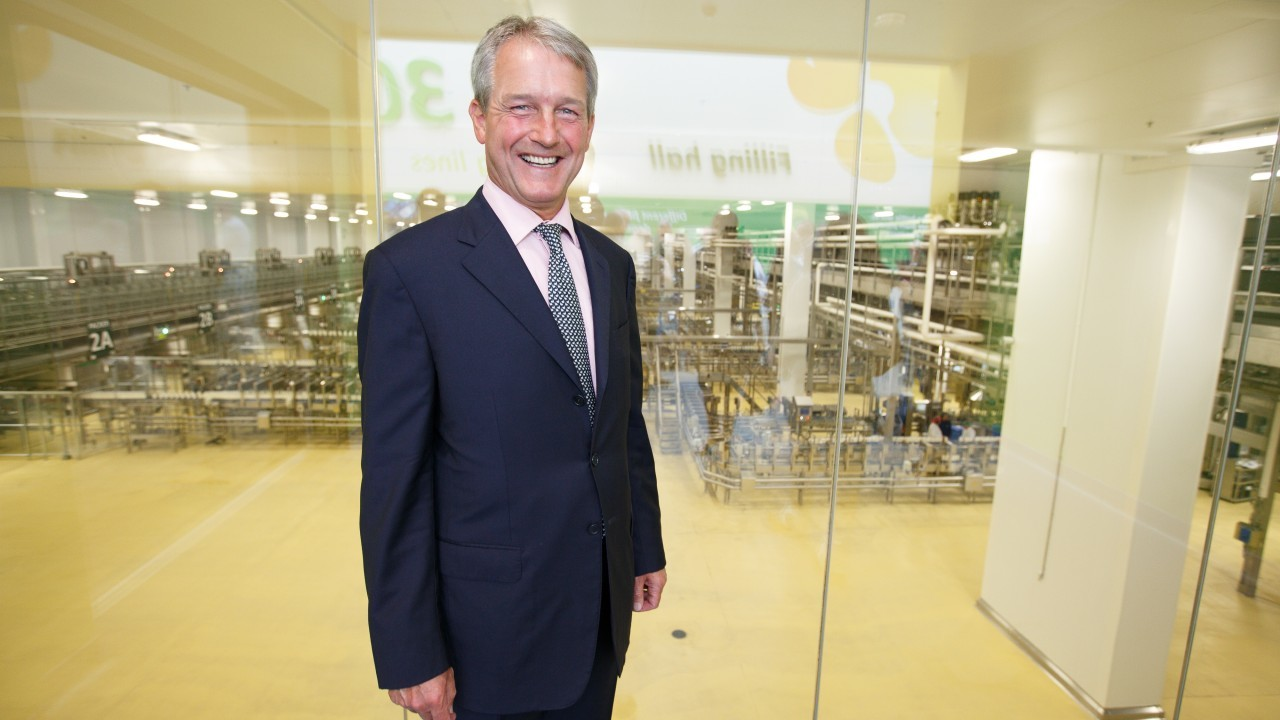 Owen Paterson attended the opening of Arla's new dairy in Aylesbury.