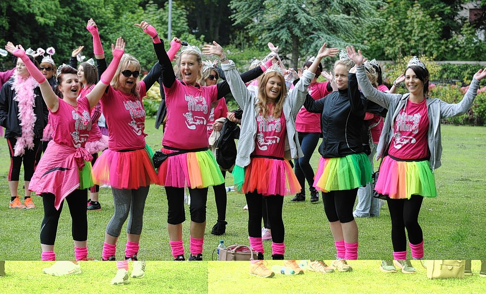 Annual Bling Fling charity walk 2014, at Duthie Park