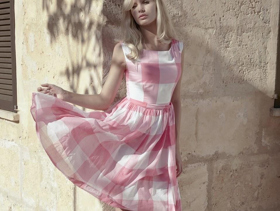 Pane check dress, £85; Laura Ashley