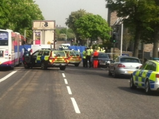 The incident caused King Street to be closed for the morning whilst emergency services worked at the scene