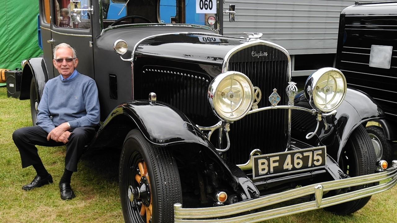 Robbie Gordon with his 1929 Chrysler 75