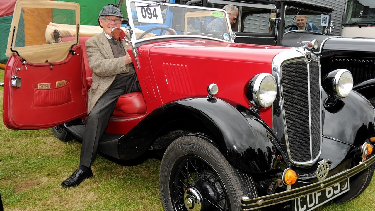 Sandy Shirras with his 1936 Series 1 Tourer