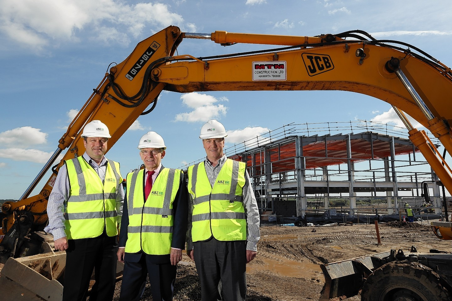 ABZ Development director George Stevenson flanked by (left) ABZ operations director Alasdair MacNeil and AFS manging director Gerry Farrell
