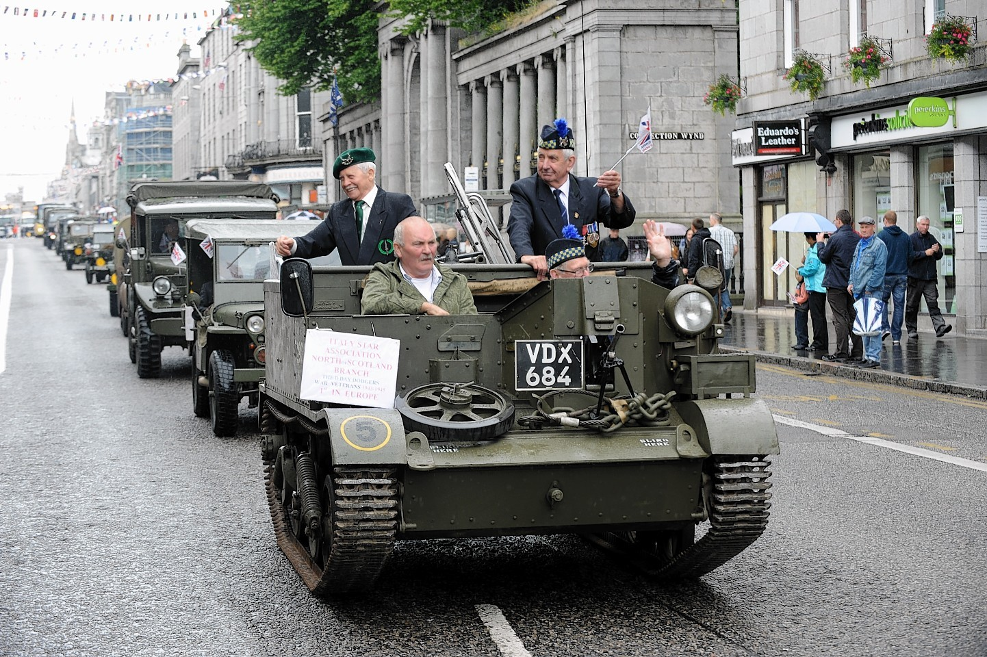 Armed Forces Day 2014 Parade down Union Street, Aberdeen.
