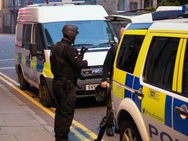 Armed police in Aberdeen
