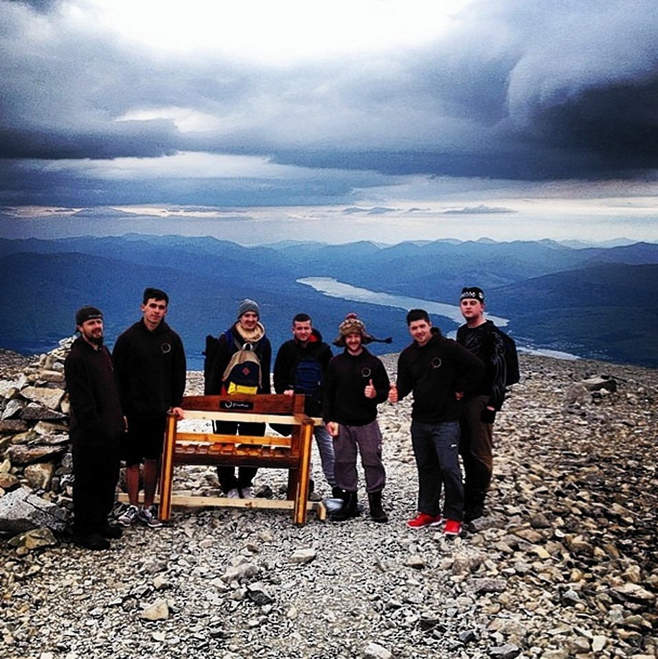 The bench on top of Ben Nevis