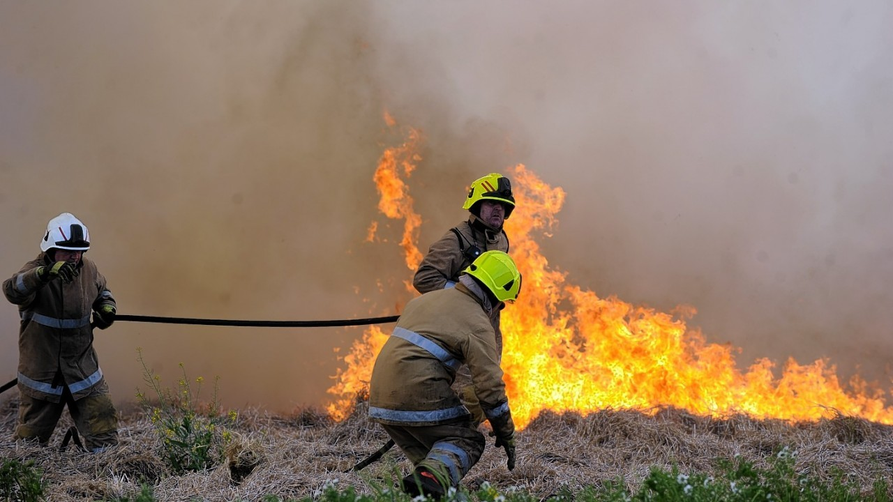 The fire was under control by 5.30pm