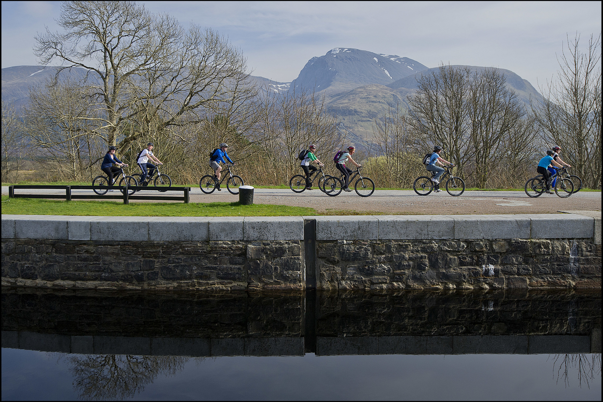 Several sections of towpath along the Caledonian Canal have been upgraded