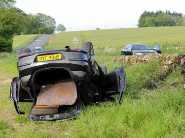 The car turned over on the Ellon Road
