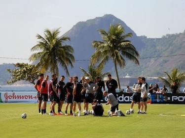 England players during the training session at Urca Military Training Ground, Rio de Janeiro, Brazil.