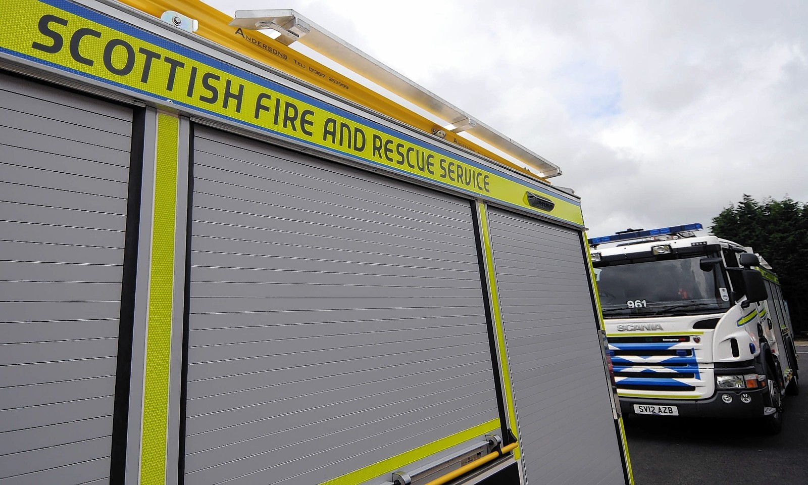 Six fire engines are battling the blaze in Fraserburgh