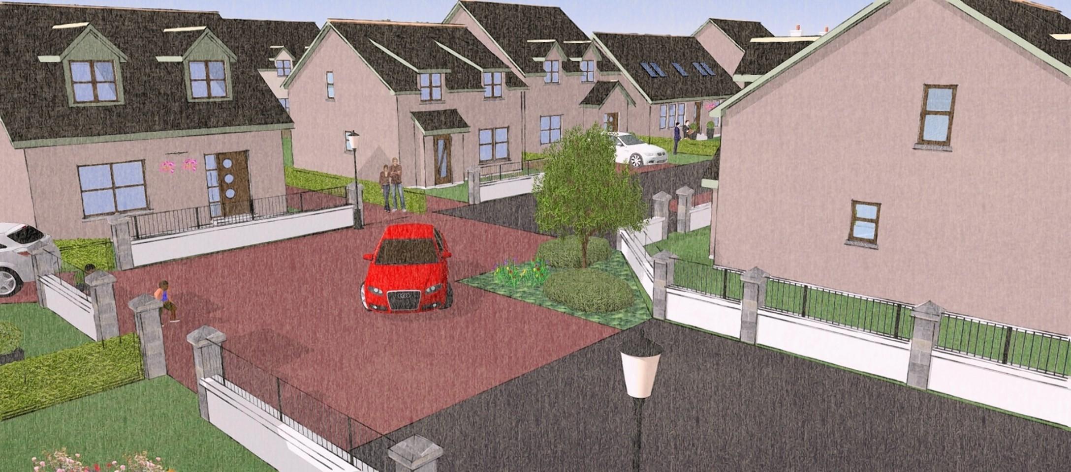 Artist impression of part of the Fraserburgh expansion plan