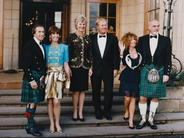 Jackie and Helen Stewart; Barbara and Jack Nicklaus; Micheline Roquebrune and Sean Connery, 1993