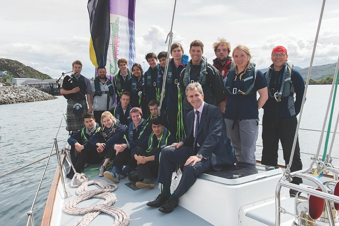 Gordonstoun students have set sail on an 80-day circumnavigation of Britain