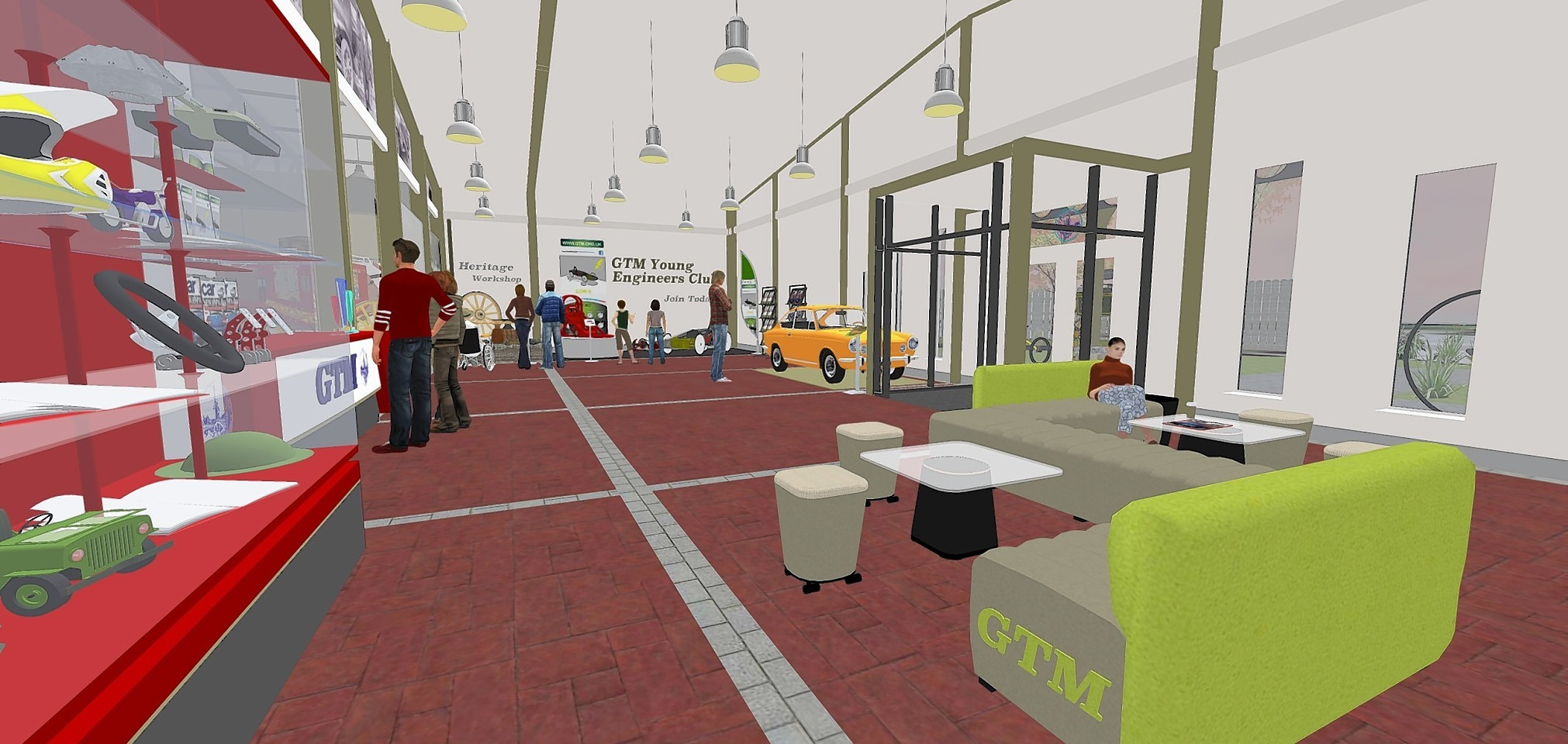 Artist impressions for the new visitor reception at Grampian Transport Museum, Alford