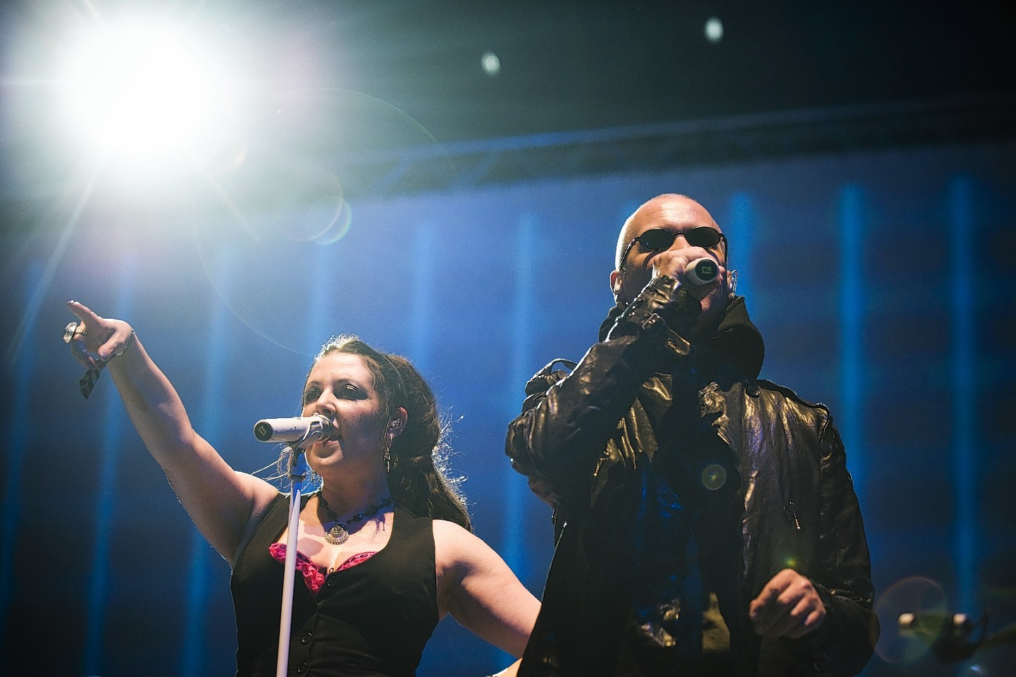 Human League headlined the event in Stonehaven