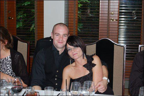 Iain MacDonald with his fiancee Christine Patient