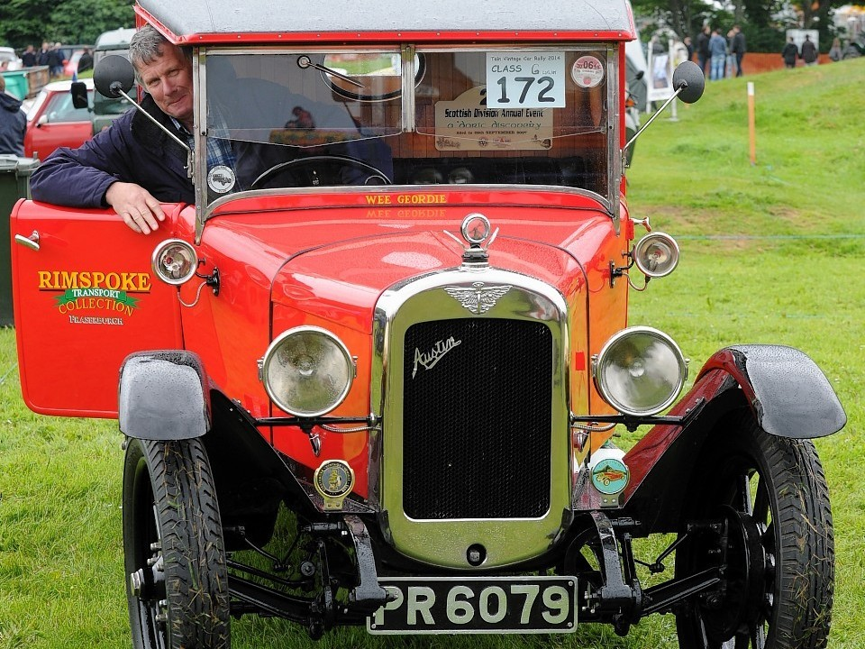 James Gray of Fraserburgh behind the wheel of a 1928 Austin truck