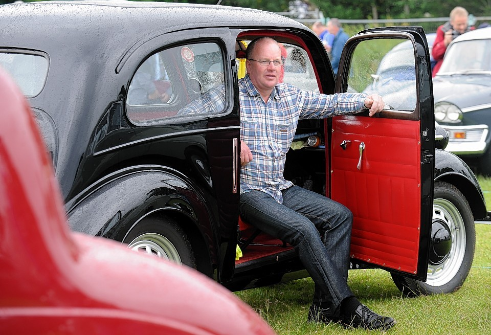 John Cunningham with a 1956 Ford Popular