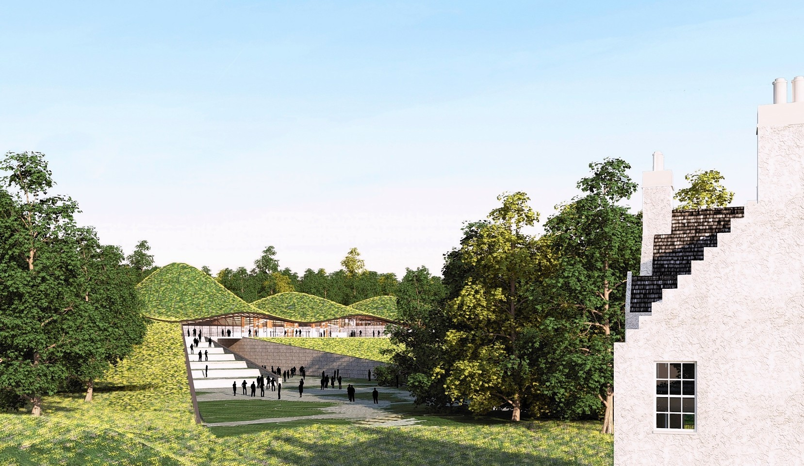 An artist's impression of how The Macallan distillery will look