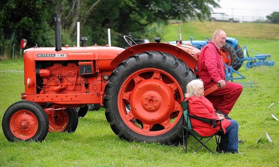 Netta and Willie Ross with their 1965 Nuffield