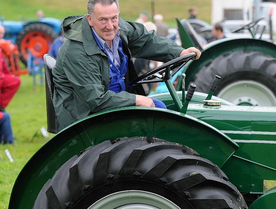 Nicol Mackenzie on his 1948 Field Marshall tractor