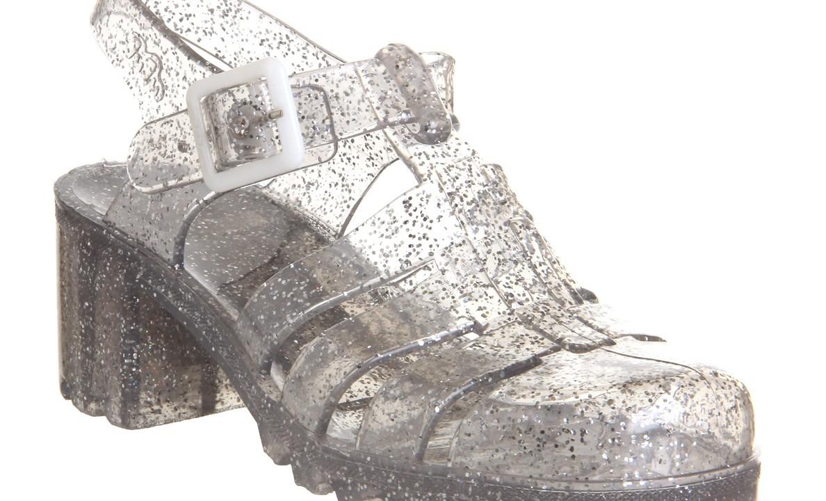 Office JuJu Jelly Multi Glitter sandals