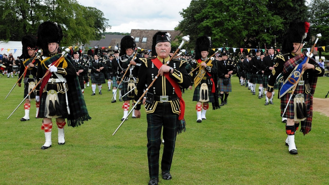 Pipe band. Credit: Kenny Elrick.
