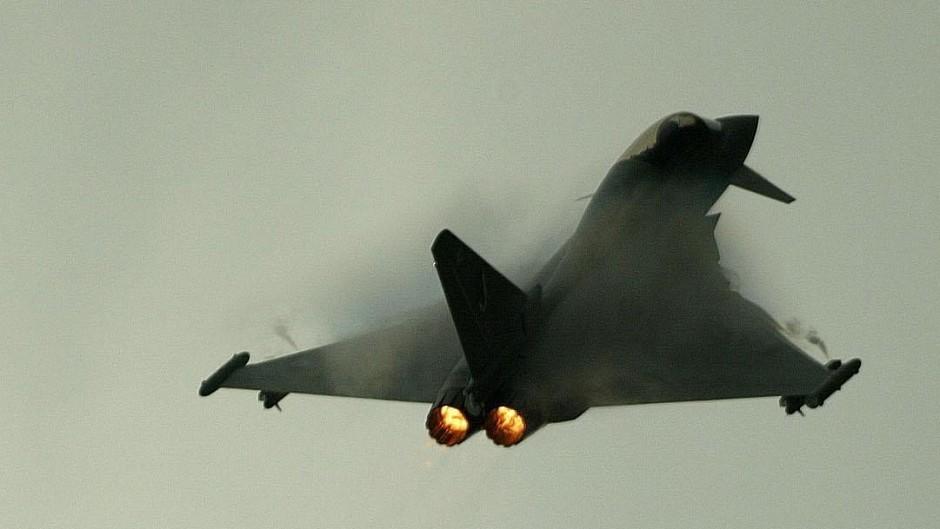 The Eurofighter Typhoon aircraft