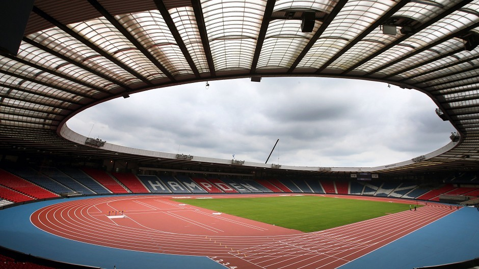 The new athletics arena in Glasgow - the city is hosting the 2014 Commonwealth Games