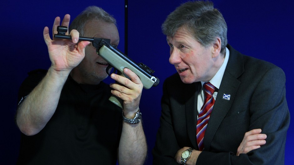 Kenny MacAskill, right, said new laws being passed through parliament will create a 'robust' licensing scheme for air guns