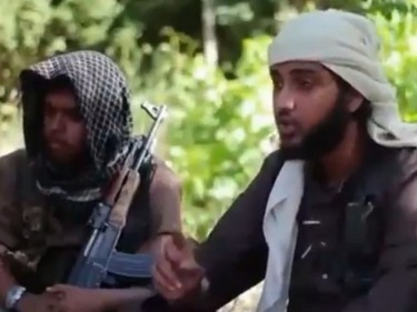 A screengrab showing Islamist fighters who claim to be British in a recruitment video for the Islamic State in Iraq and the Levant (Isis) (YouTube/PA)