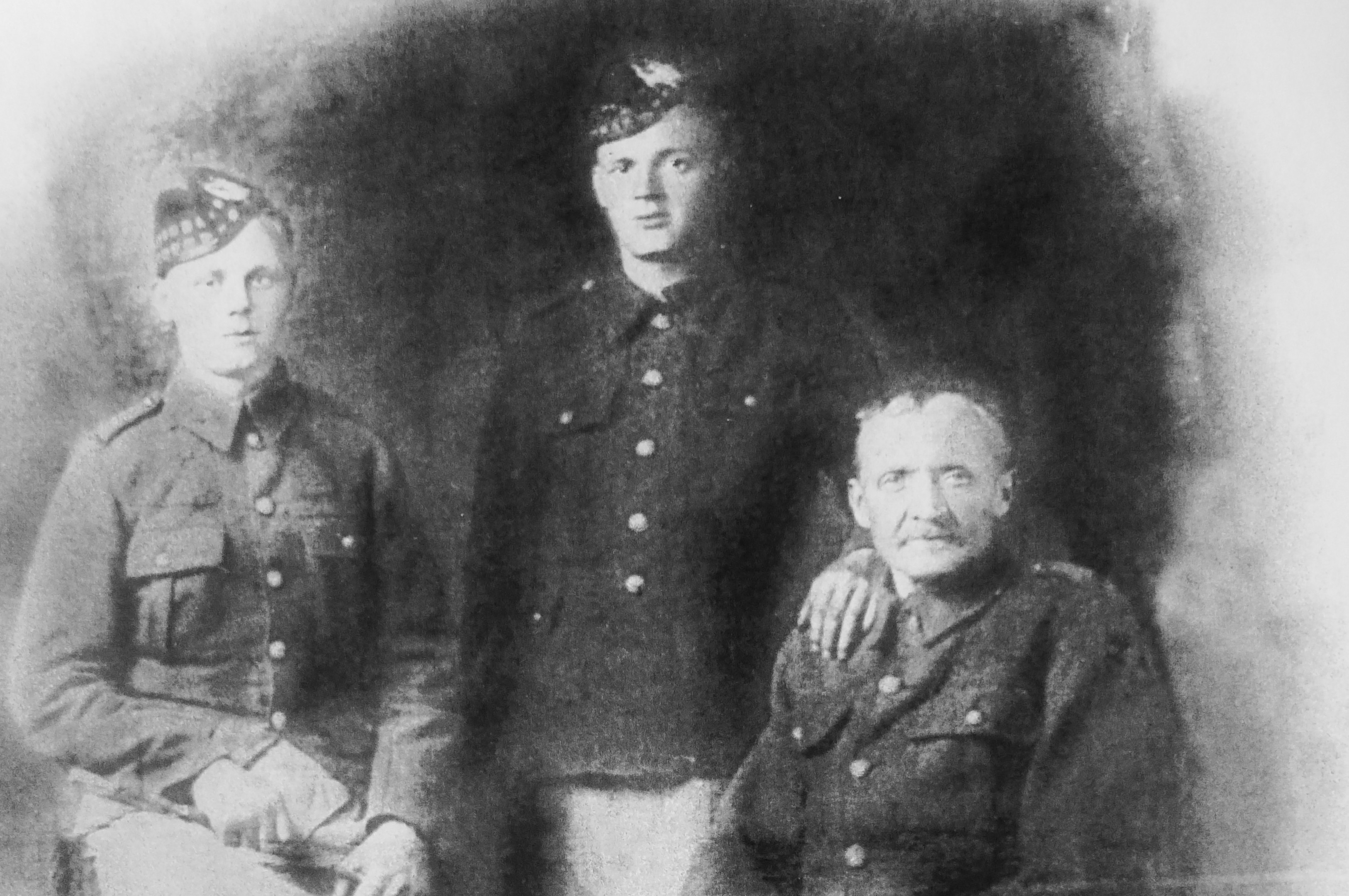 From left: James and John Tocher with their father Peter