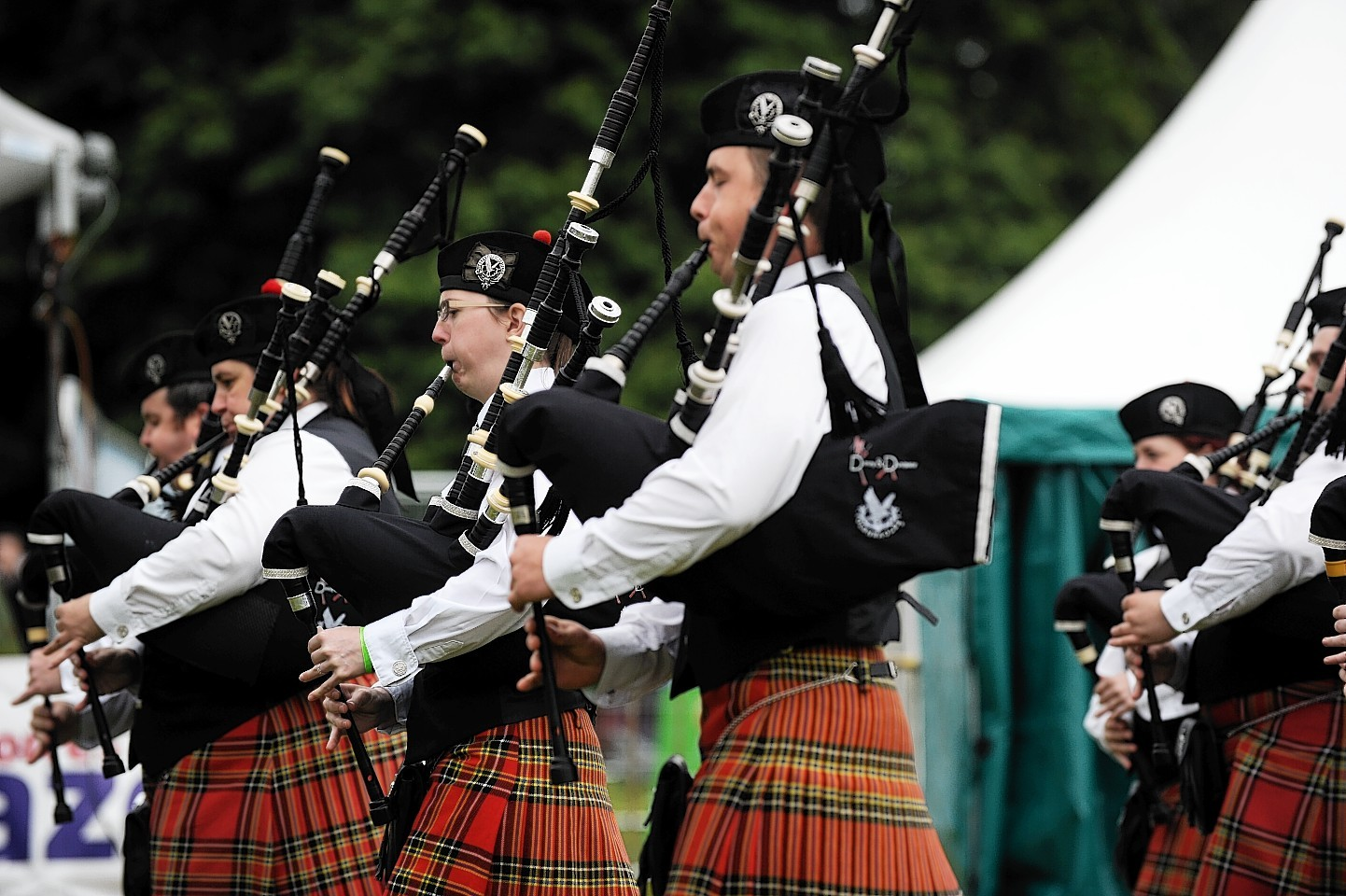 Pipe Band Championships at Grant Park, Forres.