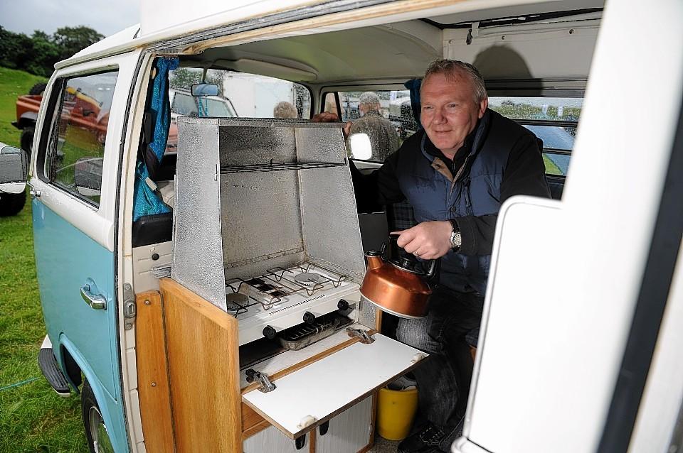 Rob Macgregor in his 1972 VW Devon Moonraker conversion