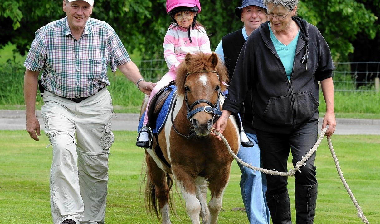 The Rotary Clubs, Kids Out day, at SRUC Craibstone , Aberdeen. In the picture is Nadia Simpson, Kirkhill Primary school on the horse.
