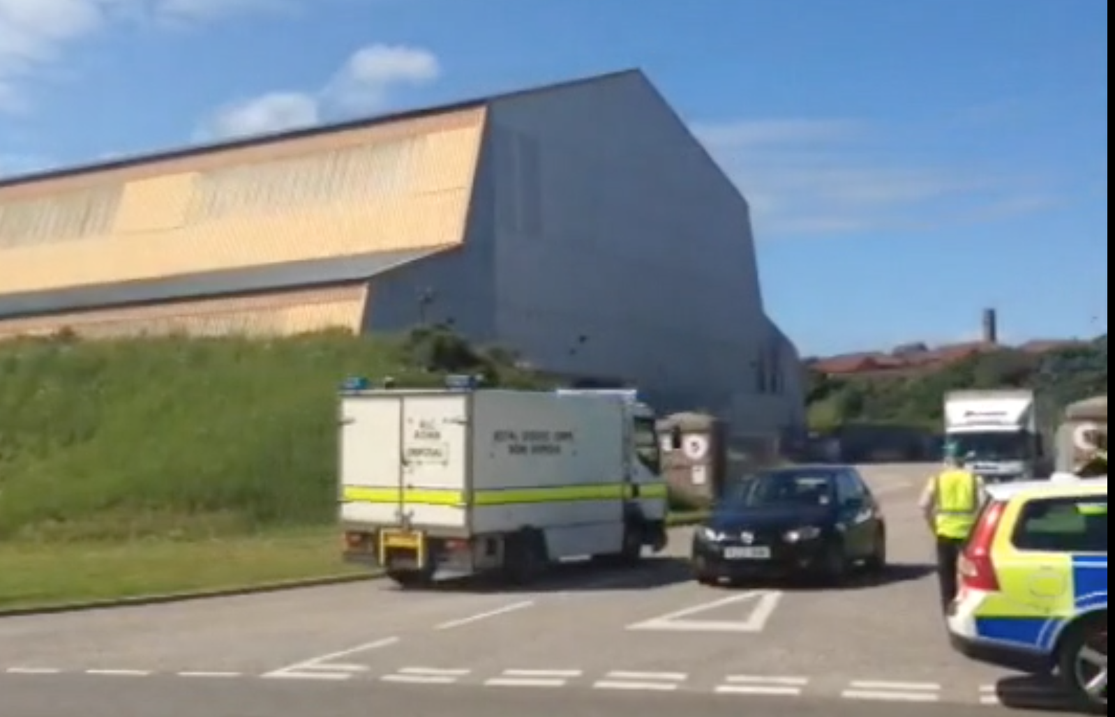 The bomb squad arrive in Peterhead for an incident earlier this year