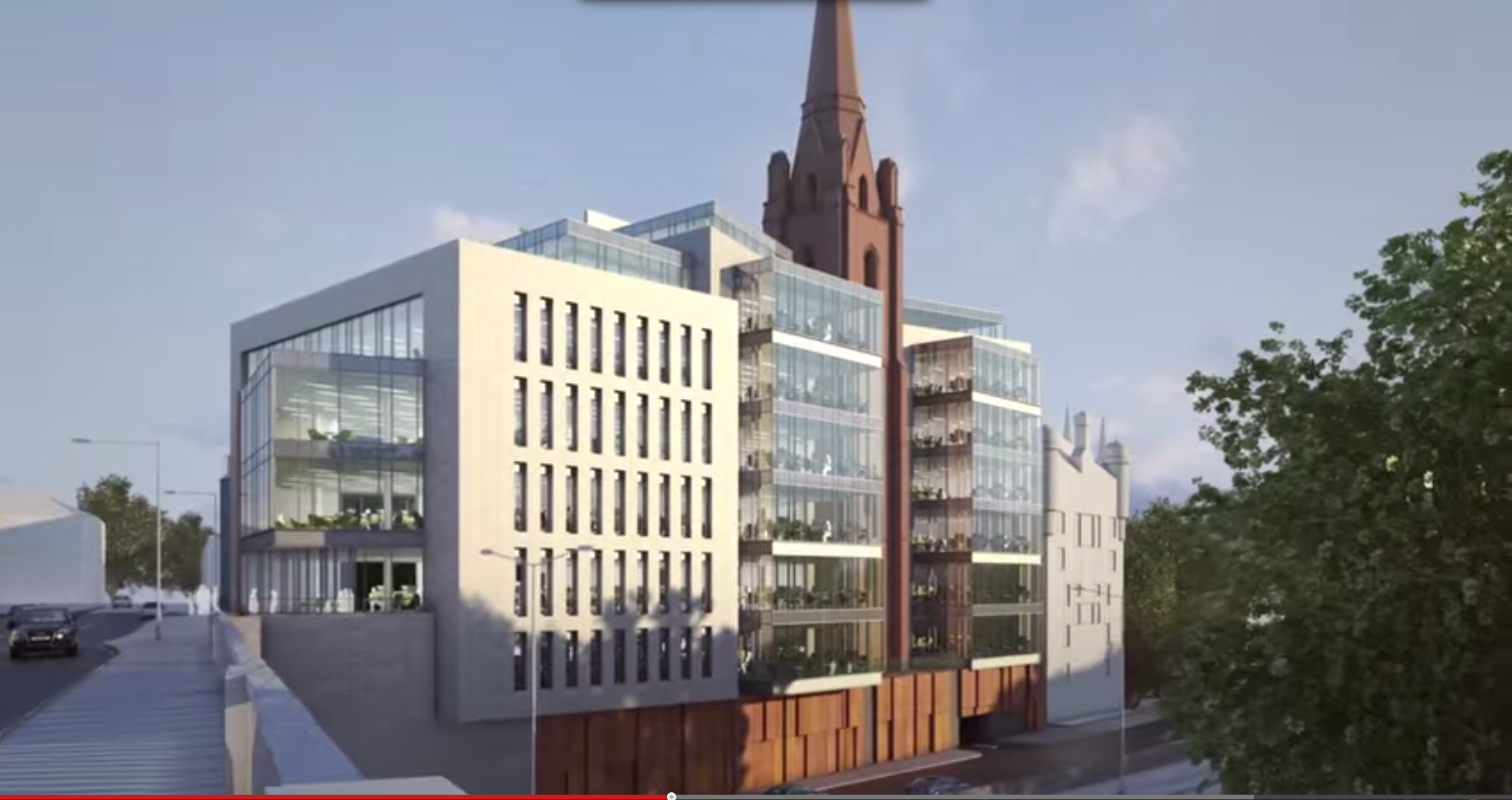 Artist impression of the development of Triple Kirks into The Point