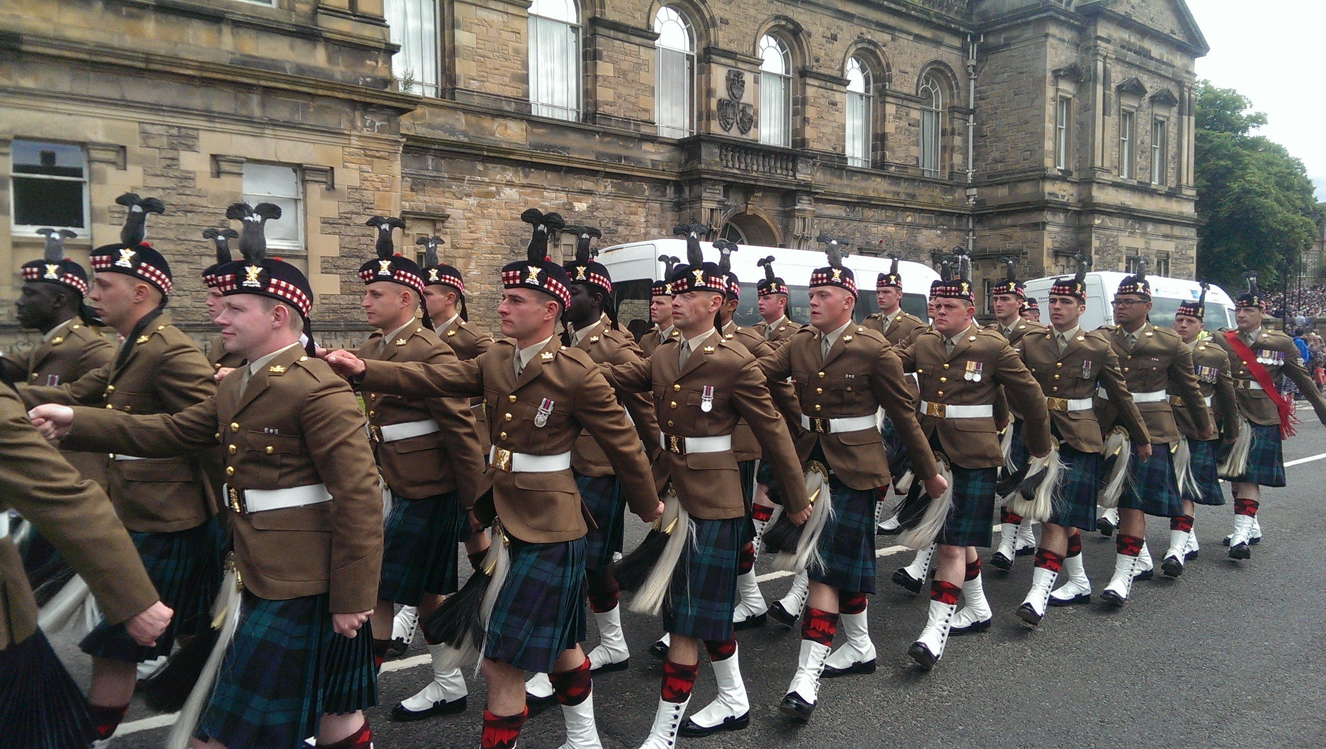 Live from Armed Forces Day parade in Stirling