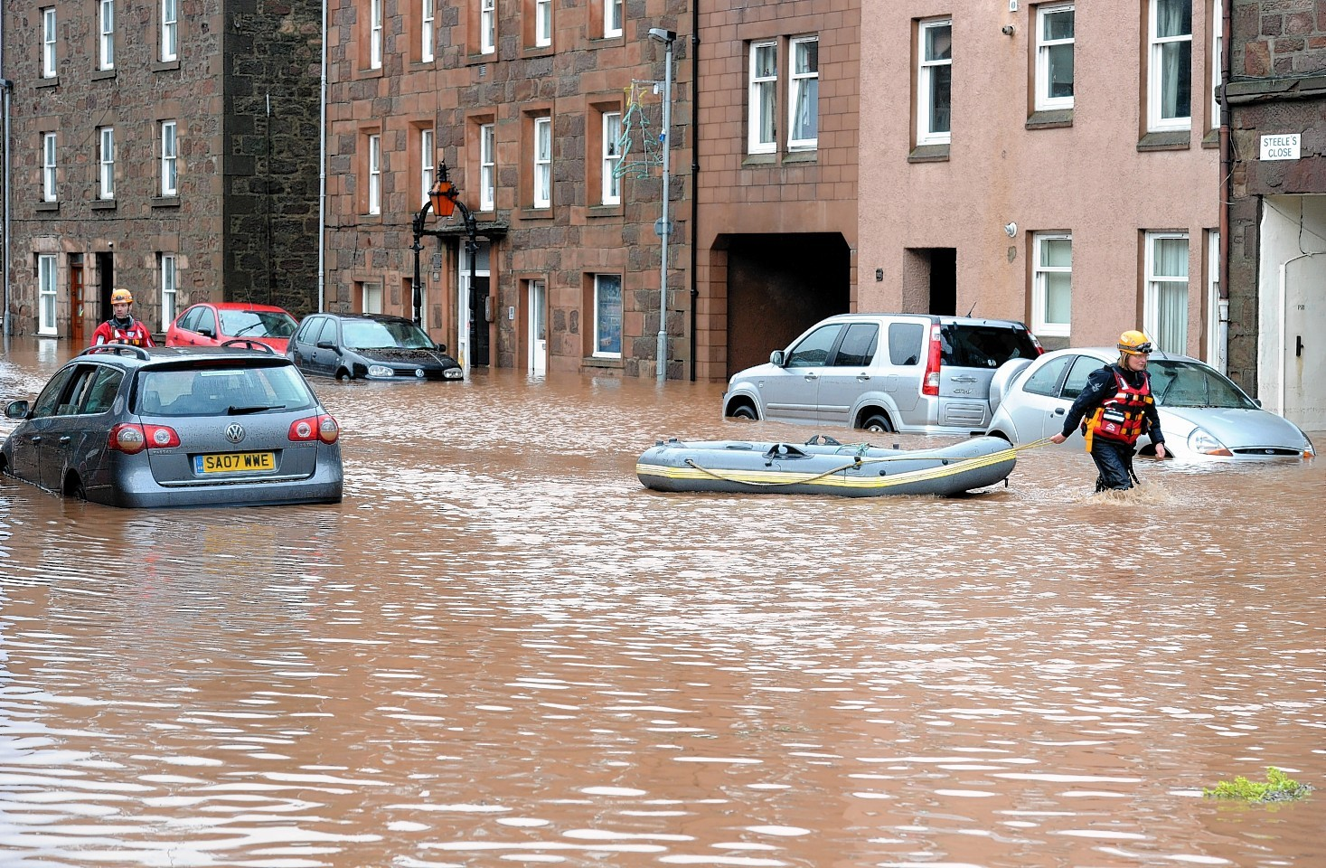 Stonehaven floods in previous years