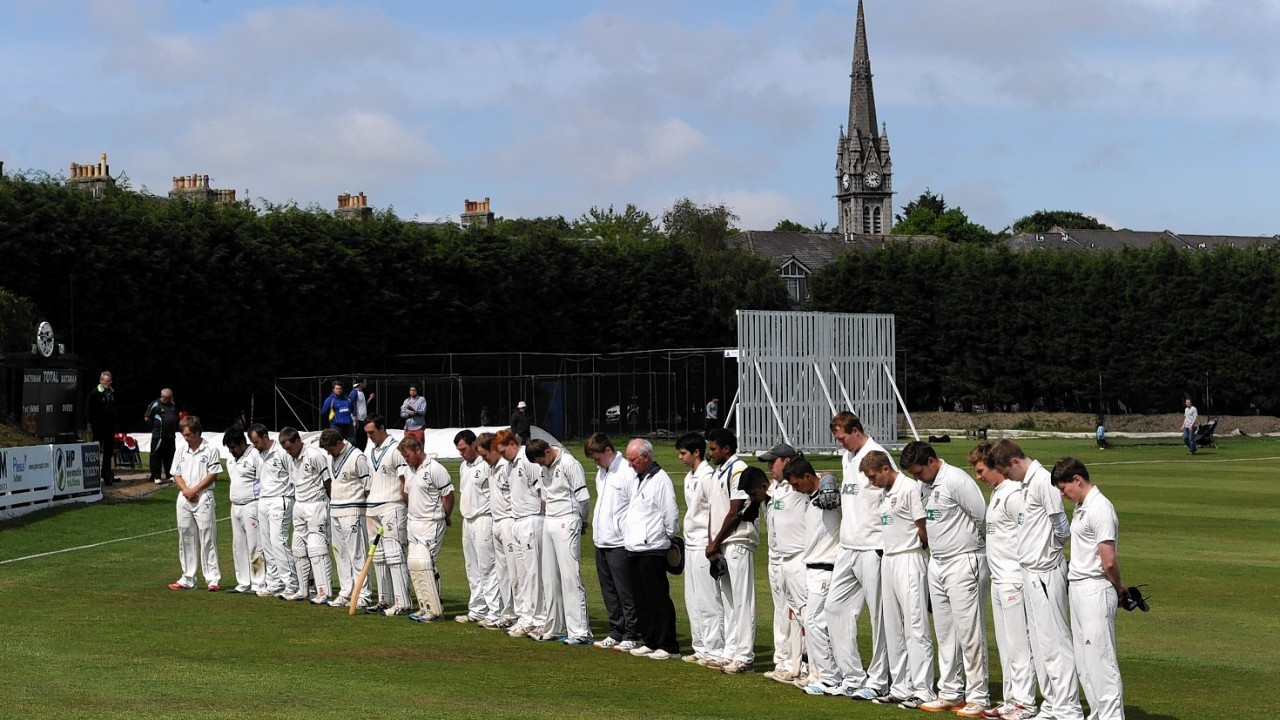 Aberdeenshire v Stoneywood Dyce at Mannofield. Stoneywood won by seven wickets