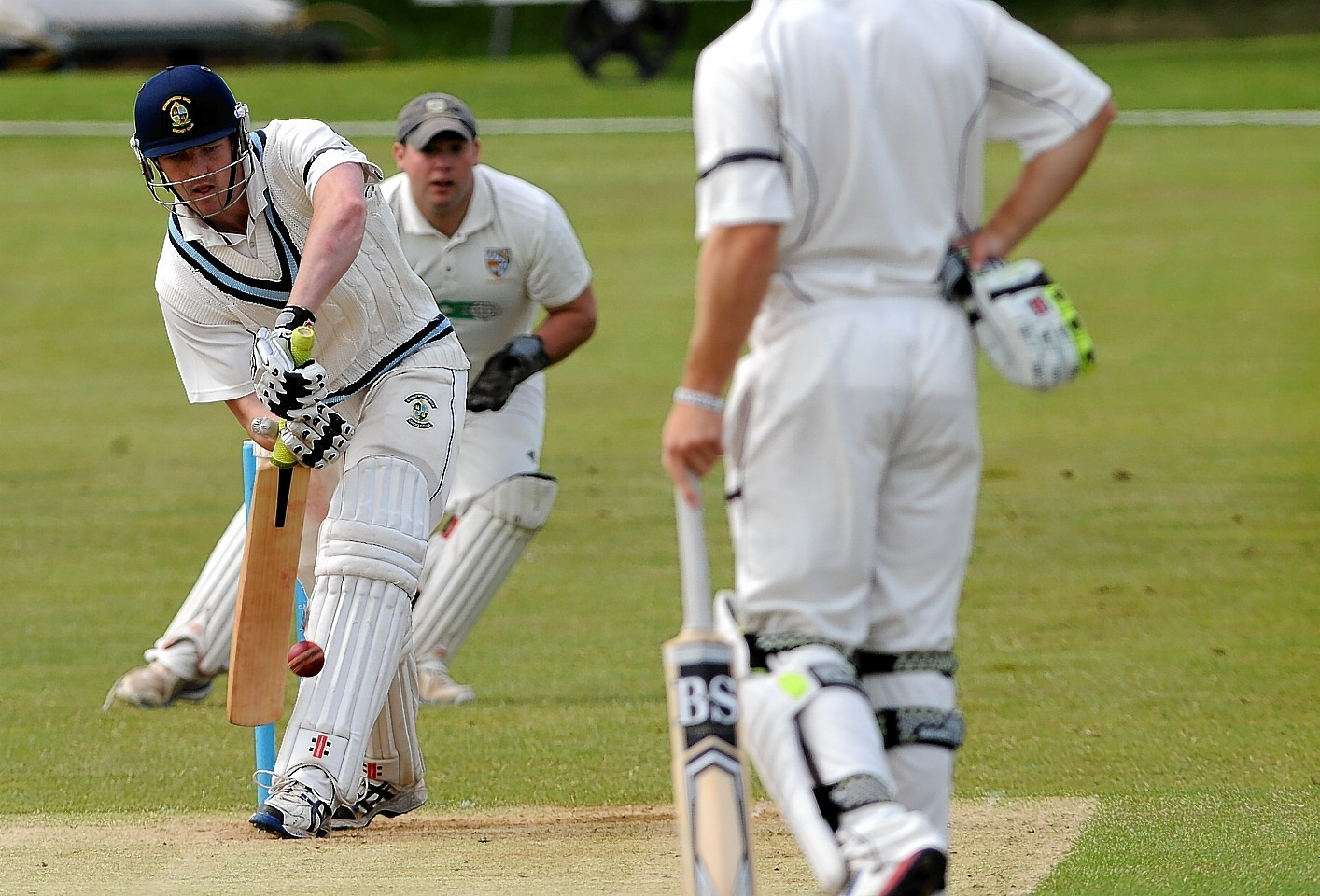 Stoneywood's Ali Gill batting. Stoneywood won by seven wickets