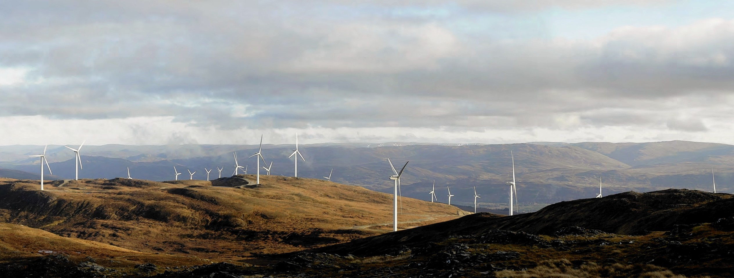The proposed Stronelairg windfarm