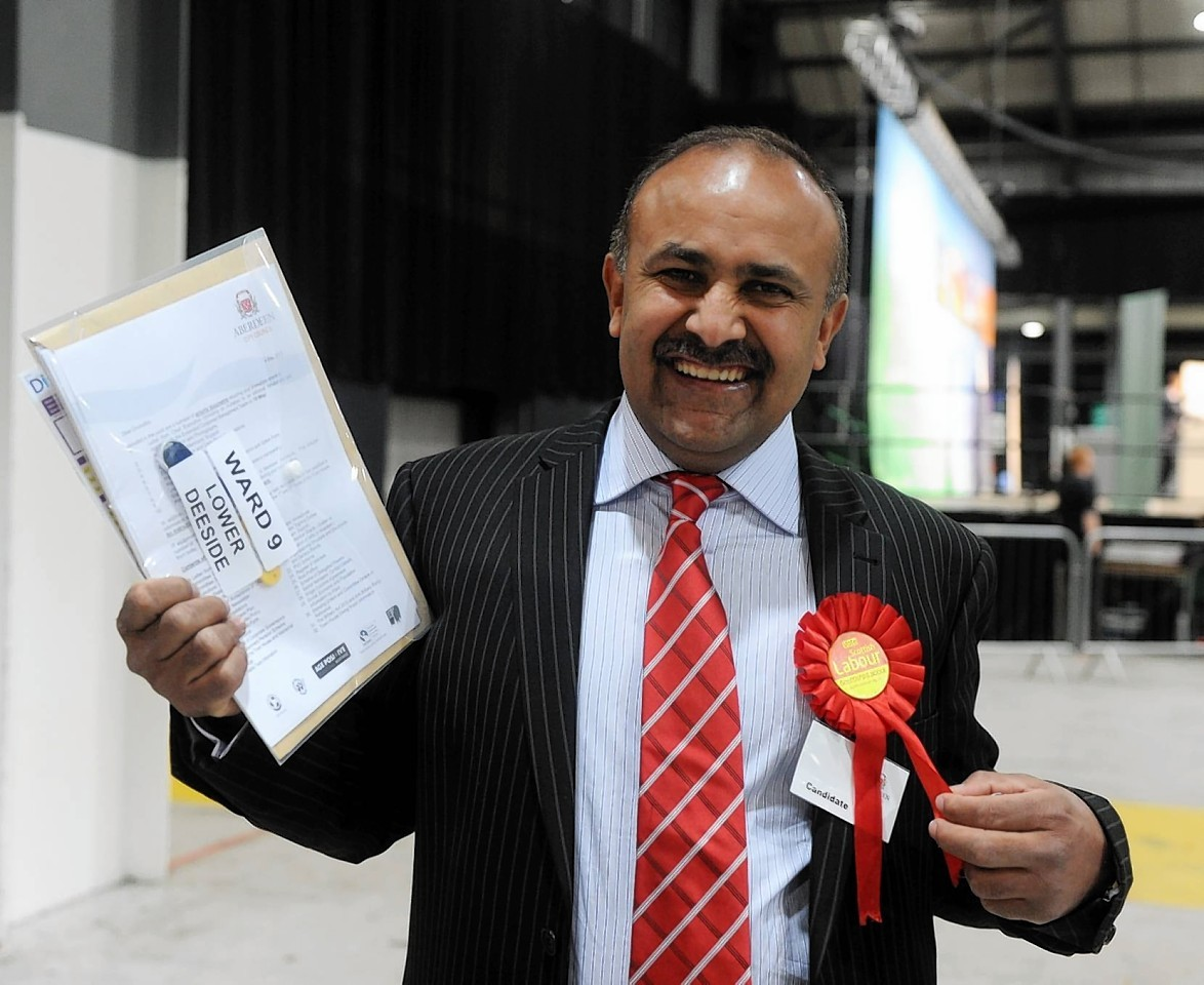 Mr Malik is also a labour councillor in Aberdeen, and runs a catering company.
