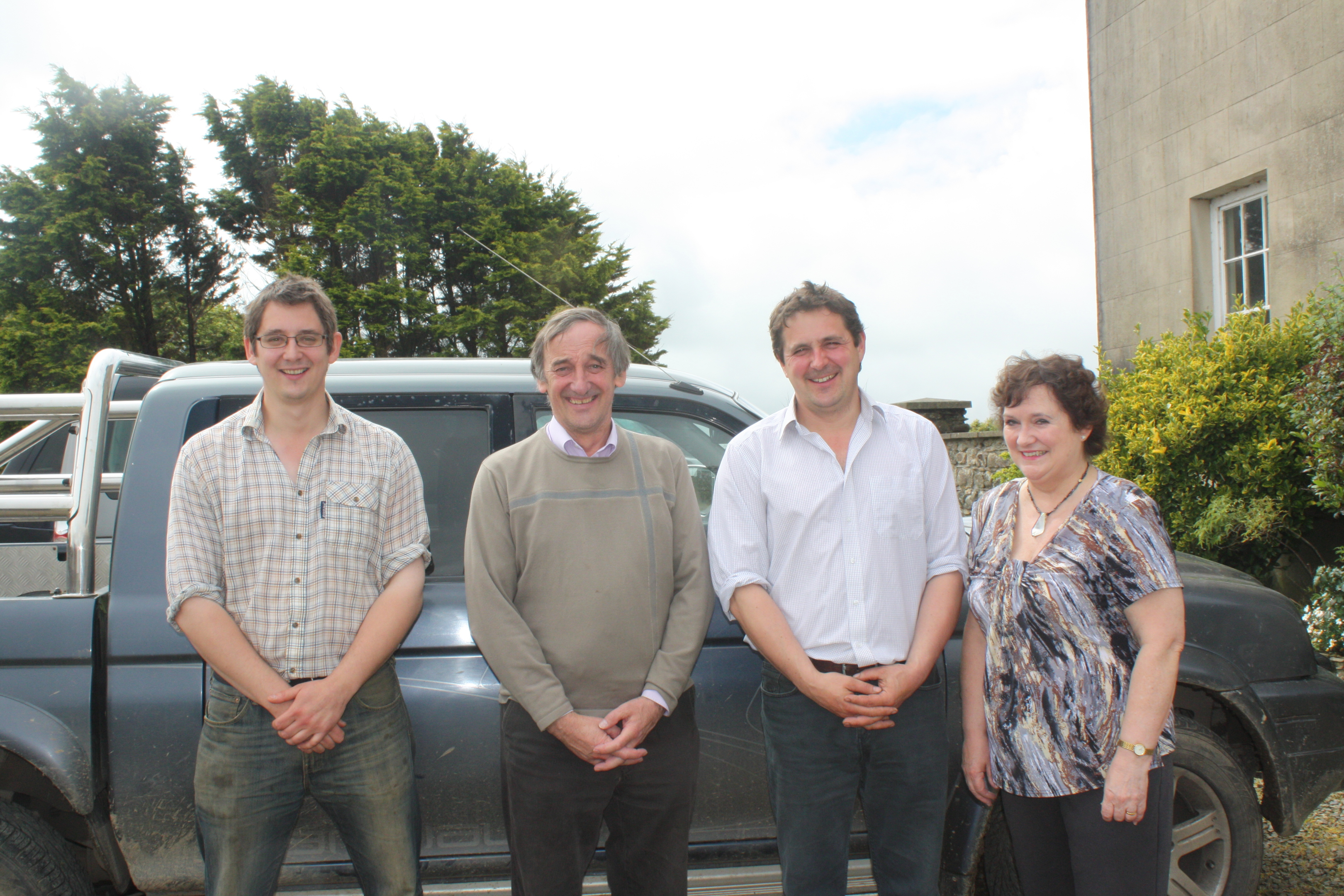 Nigel, Mansel, Paul and Hilary Raymond.