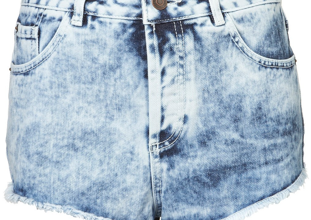 Topshop acid wash denim hotpants