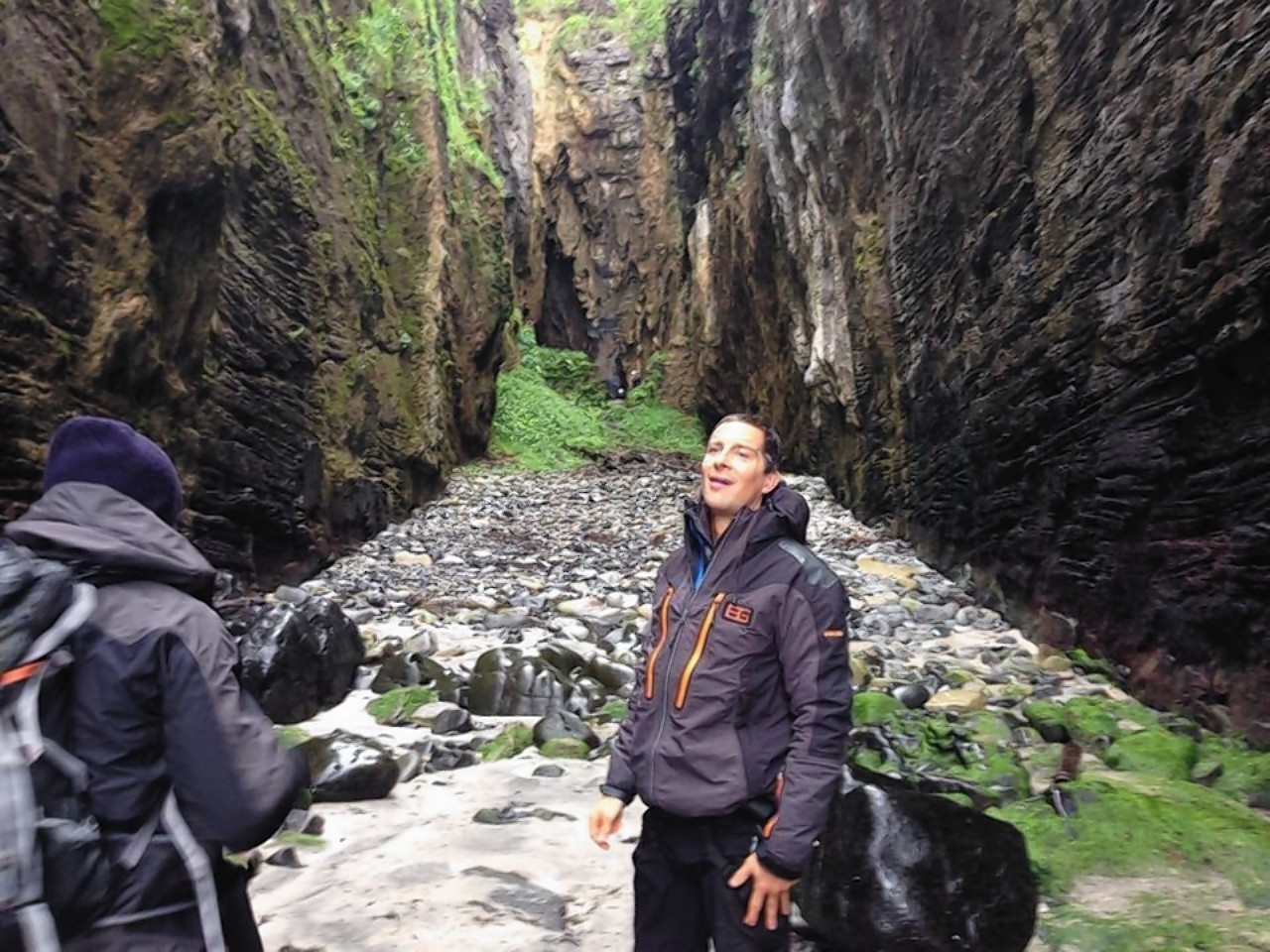 Bear Grylls was to be found on a less exotic island in the Hebrides this week