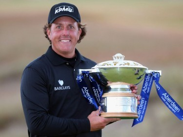 Phil Mickelson will defend his Scottish Open title at Royal Aberdeen