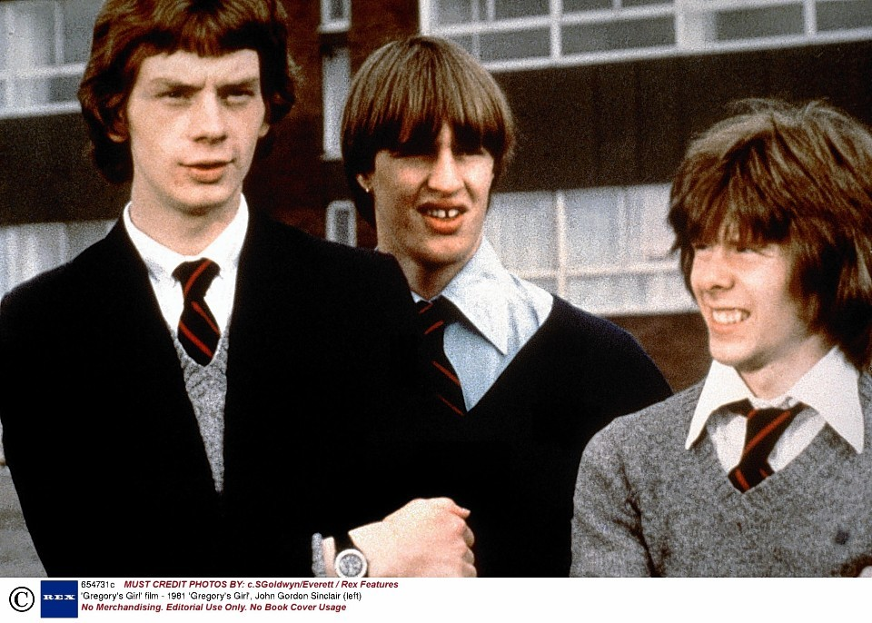 John Gordon Sinclair, left, in his Gregory's Girl days