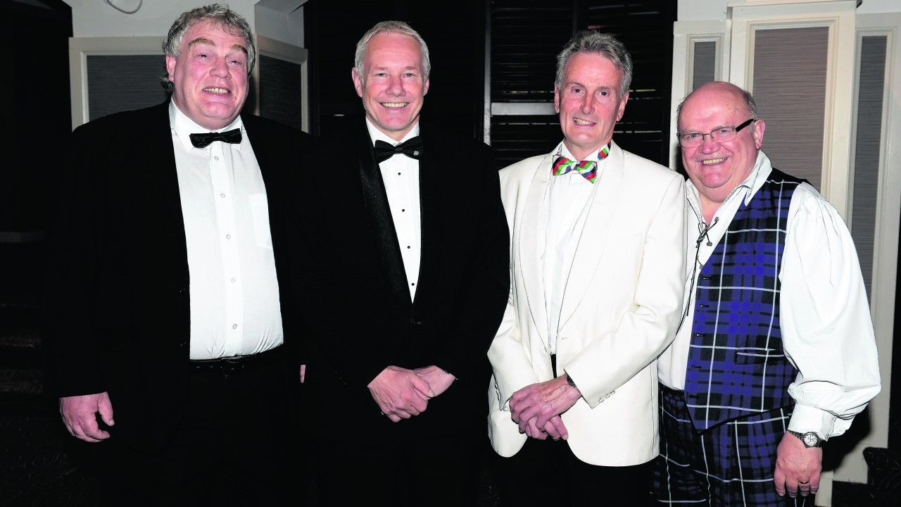 Ian Milne, John Rutherford, Howard Roper and Peter Mitchell.